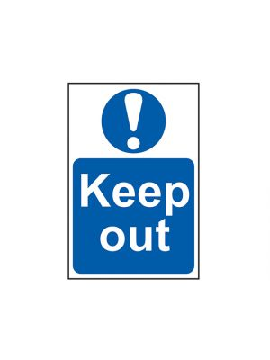 Keep Out - PVC 400 x 600mm