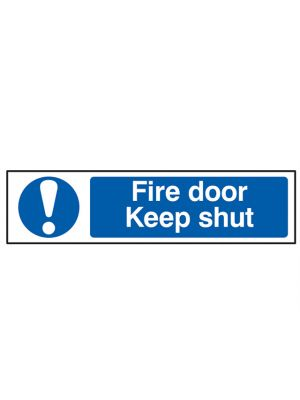 Fire Door Keep Shut - PVC 200 x 50mm