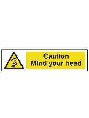 Caution Mind Your Head - PVC 200 x 50mm