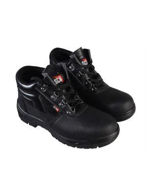 4 D-Ring Chukka Black Safety Boots UK 10 Euro 44