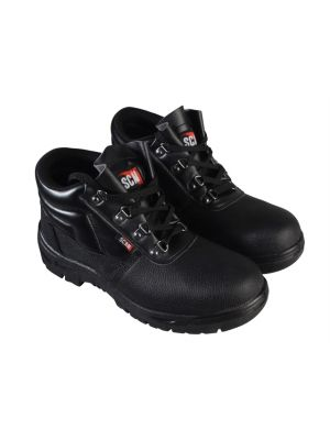 4 D-Ring Chukka Black Safety Boots UK 9 Euro 43