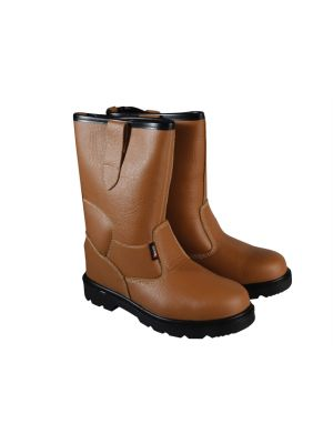 Texas Lined Tan Rigger Boots UK 11 Euro 46