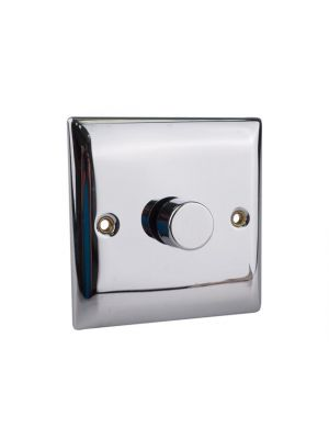 2-Way Dimmer Switch 400W 1 Gang Chrome