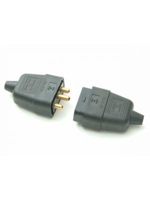 Black Plug & Socket 10A 3 Pin