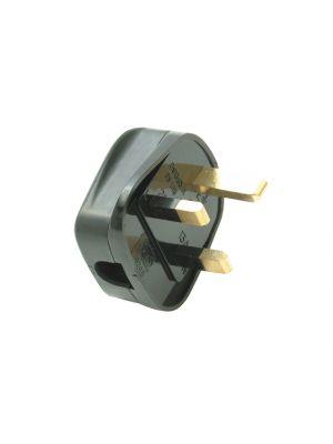 Black Heavy-Duty Rubber Plug 13A Fused
