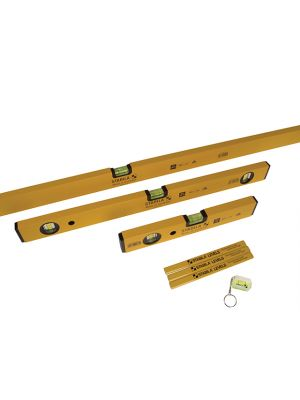 70-2 Double Plumb Spirit Level Pack 30cm, 60cm & 180cm