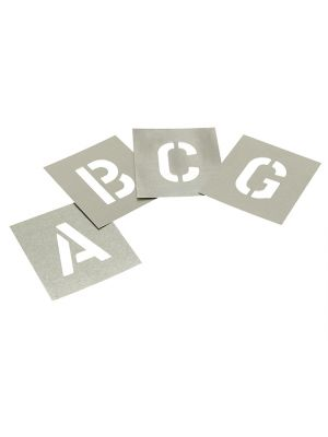 Set of Zinc Stencils - Letters 4in