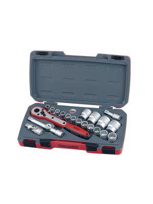 T1221 Socket Set of 21 Metric 1/2in Drive