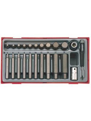 TTHEX23 23 Piece Metric Hex Bit Socket Set
