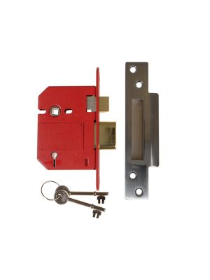 StrongBOLT 2200S BS 5 Lever Mortice Sashlock Satin Chrome 81mm Box