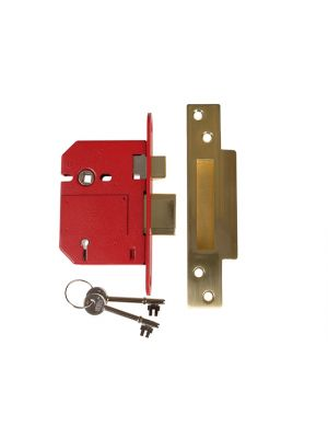 StrongBOLT 2200S BS 5 Lever Mortice Sashlock Satin Brass 81mm Box