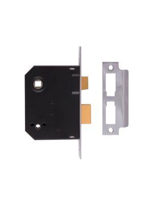 2294 Mortice Bathroom Lock Chrome Finish 63mm 2.5in Box