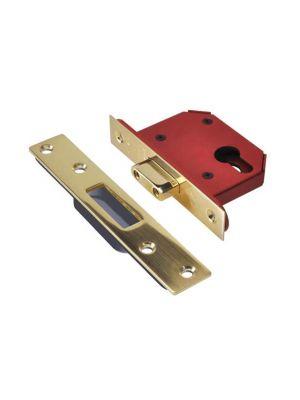 StrongBOLT 21EU EUS-PB-3.0 Euro Deadlock Plated Brass 81mm 3in