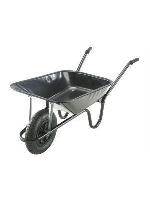 85L Black Contractor Heavy-Duty Builders Wheelbarrow