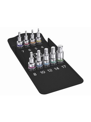 8740 C HF Zyklop In-Hex Bolt Hold Socket Set of 10 Metric 1/2in Drive