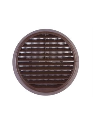 Wall Grille Brown Round 100mm