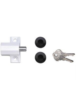 P114 Patio Door Lock Polished Chrome Finish Visi-pack