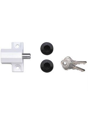 P114 Patio Door Lock Grey Finish Visi-pack