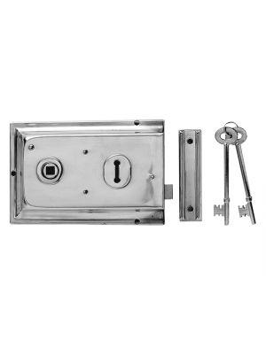 P334 Rim Lock Brass Finish 156 x 104mm Visi