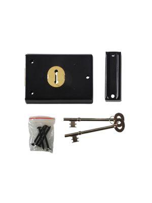 P402 Rim Lock Grey Finish 102 x 76mm Visi
