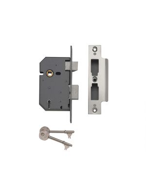 PM550 5 Lever Mortice Sashlock Polished Chrome 67mm 2.5in