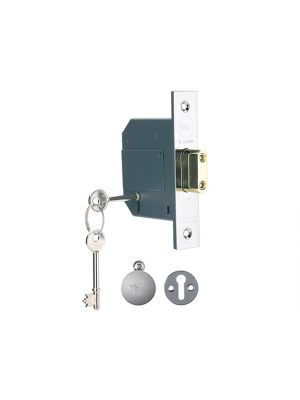 PM562 Hi-Security BS 5 Lever Mortice Deadlock 68mm 2.5in Polish Chrome