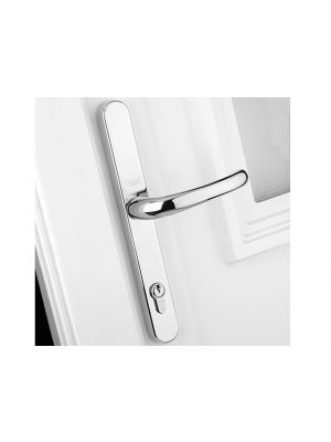 Retro Door Handle PVCu Polished PVD White Finish