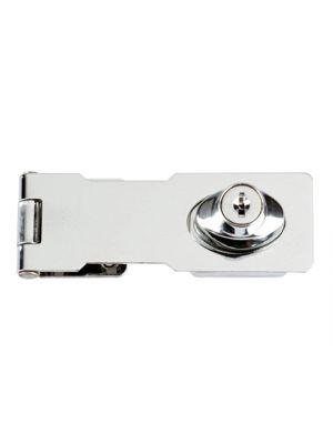 Y116/115 Locking Hasp Chrome Plated 116mm