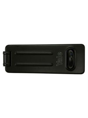 Y135 Steel Hasp & Staple Black Finish 120mm