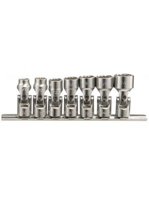 Genius 3/8in. Drive 7 Piece Universal Joint Socket Set SAE 3/8 - 3/4in.