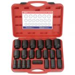 Genius 3/4in. Drive 21 Piece Deep Impact Socket Set Metric 19 - 50mm