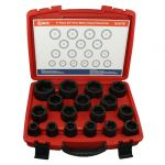 Genius 3/4in. Drive 17 Piece Standard Depth Impact Socket Set Metric 19 - 55mm