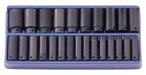 Genius 1/2in. Drive 25 Piece Deep Impact Socket Set Metric 8 - 32mm