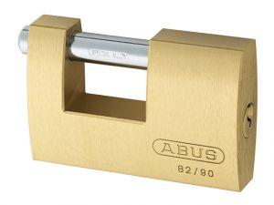 82/90mm Monoblock Brass Shutter Padlock