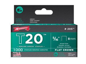 T20 Staples 8mm (5/16in) Box 1000
