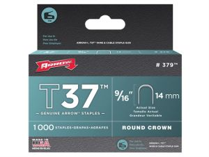 T37 Staples 14mm (9/16in) Box 1000