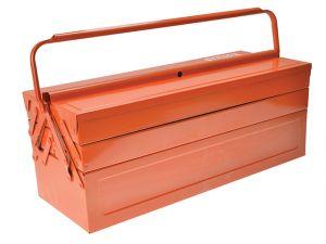 Orange Metal Cantilever Tool Box 21in