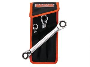 Reversible Ratchet Spanners Set 3 Piece Metric