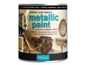 Exterior & Interior Metallic Paint Silver 500ml