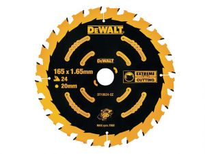 Cordless Extreme Framing Circular Saw Blades, 165 x 20mm x 24T
