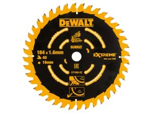 Cordless Mitre Saw Blade For DCS365 184 x 16mm x 40T Coarse