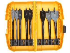 Extreme Flat Bit Set of 8 In Tough Case