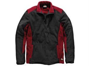 Two Tone Micro Fleece Red / Black - M (40-42in)