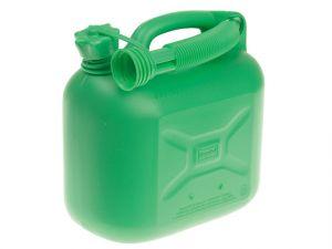 Unleaded Petrol Can & Spout Green 5 Litre