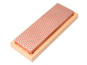 Diamond Whetstone 150mm Wooden Box Red 600 Grit Fine