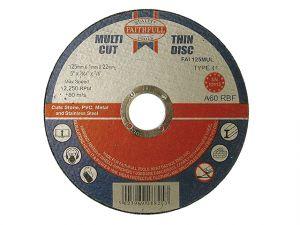 Multi-Cut Cutting Discs 125 x 1.0 x 22mm (Pack of 10)