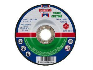 Depressed Centre Stone Cut Off Disc 125 x 3.2 x 22mm