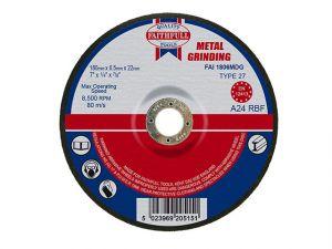 Depressed Centre Metal Grinding Disc 180 x 6.5 x 22mm