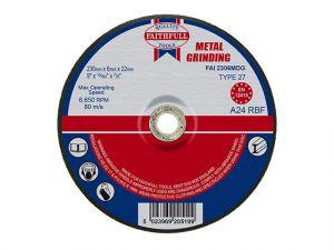 Depressed Centre Metal Grinding Disc 230 x 6.5 x 22mm