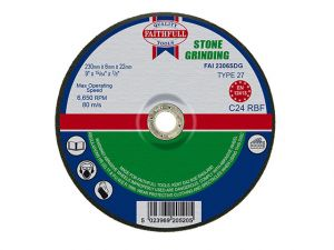 Depressed Centre Stone Grinding Disc 230 x 6 x 22mm